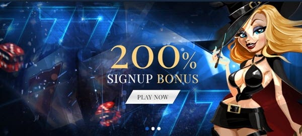 Exclusive Casino Welcome Bonus 200%