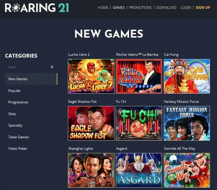 Roaring21 Casino Games