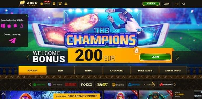 бонус арго казино