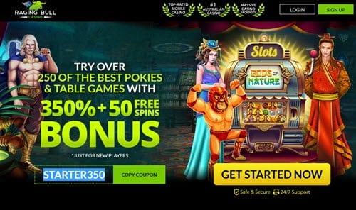raging bull casino promo
