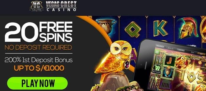 Vegas Crest Casino Free Spins