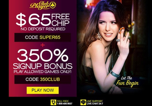 Club Player Casino 65 free chip