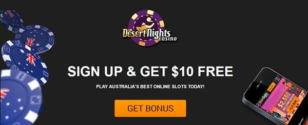 $10 FREE! Desert Night Casino