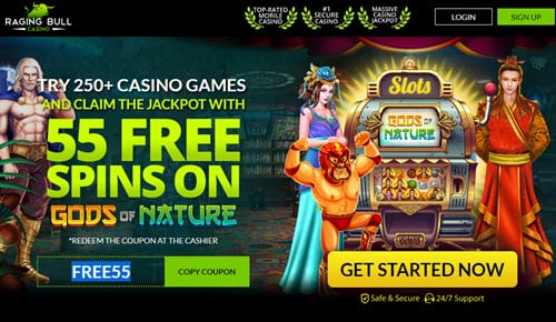 Raging Bull 55 Free Spins