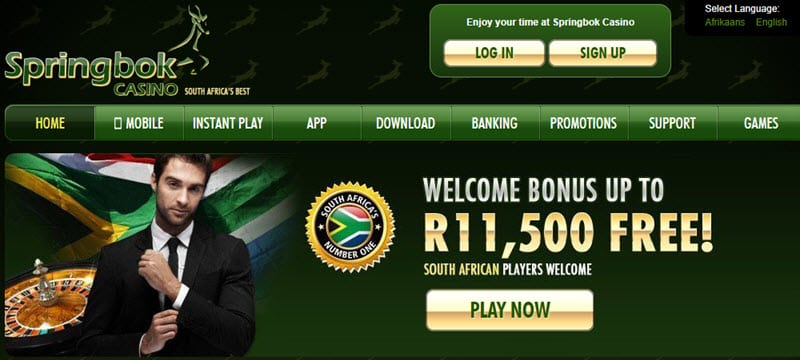 springbok casino mobile lobby