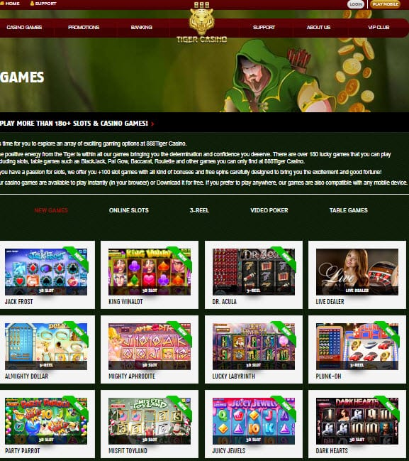 888 Tiger Casino No Deposit Bonus Codes 25 Free