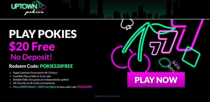 Uptown Pokies No Deposit Bonus Codes 2019