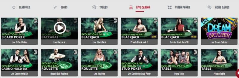 Platinum Play Casino Live