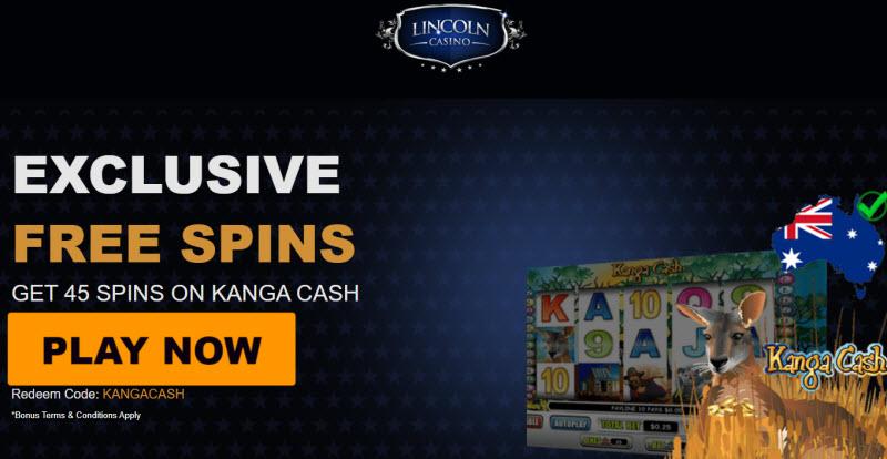 Lincoln Casino No Deposit Bonus Codes 45 Spins On Kanga Cash