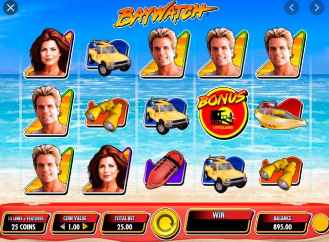 Baywatch 3D Slot Machine
