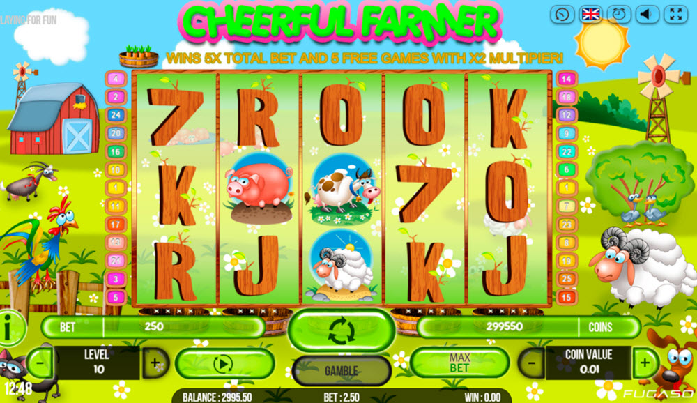 Cheerful Farmer Slot Game