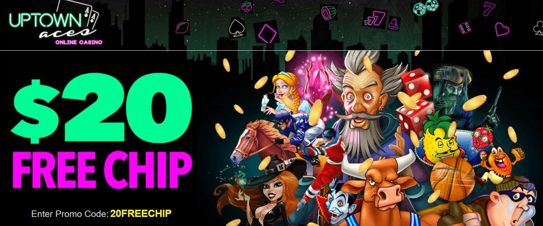 UPTOWN Aces casino no deposit bonus codes