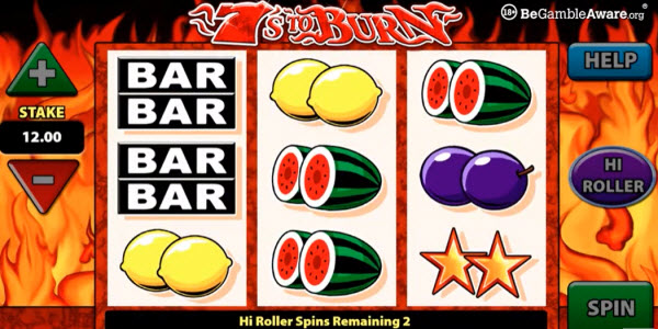 Classic and Exciting 7s To Burn Slot Machine