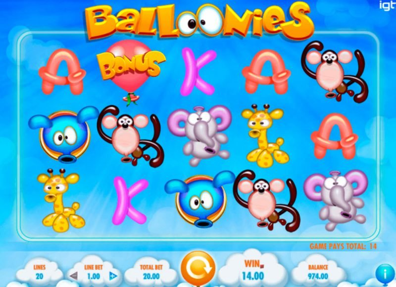 Balloonies Slot Machine