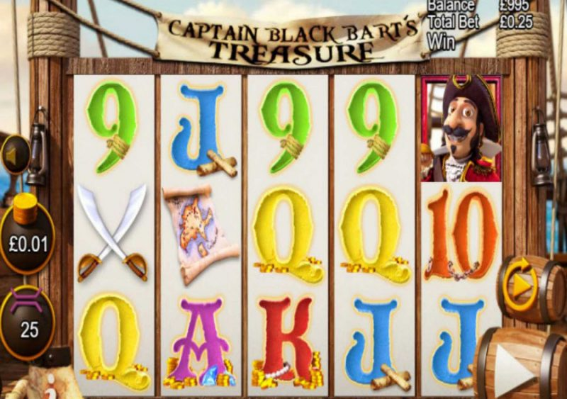 Captain Black Bart's Treasure Slot