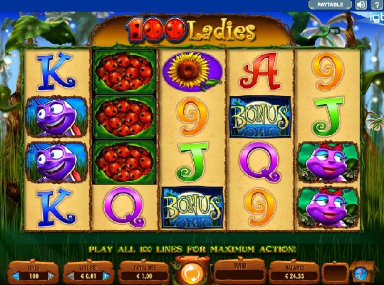 100 Ladies online slot