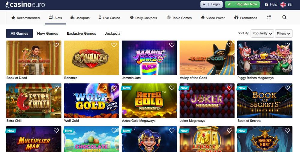 Casino Euro Bonus Code