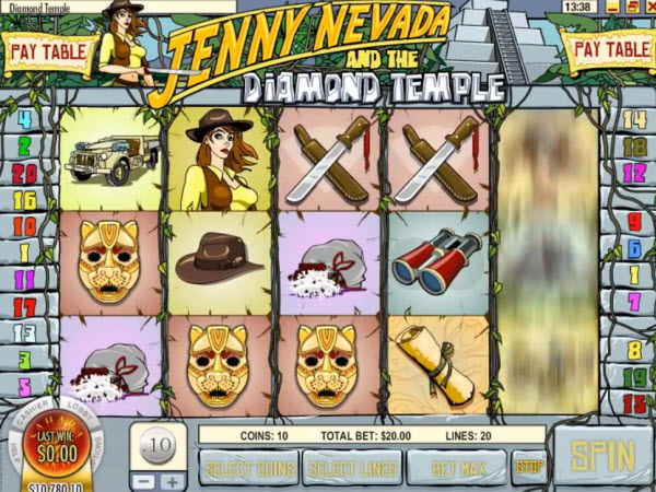 Jenny Nevada and the Diamond Temple Slots