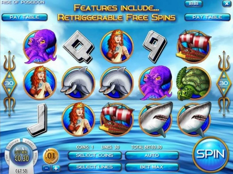 Rise of Poseidon Slot Now Available At Rival Casinos