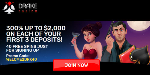 Drake Casino Bonus Codes 2020