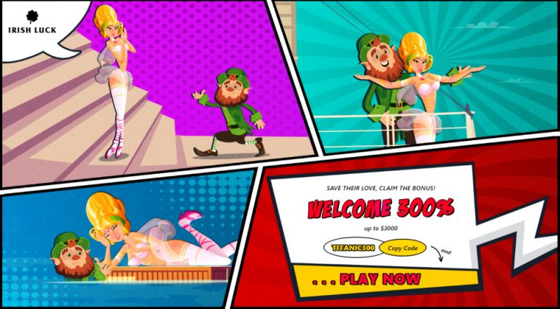 Irish Luck Online Casino Welcome Bonus