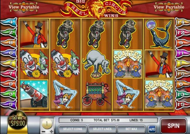 5 Reel Circus Slots