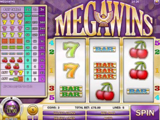 Mega Wins Slot Machine