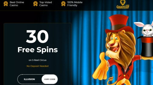 Golden Lion Casino free spins