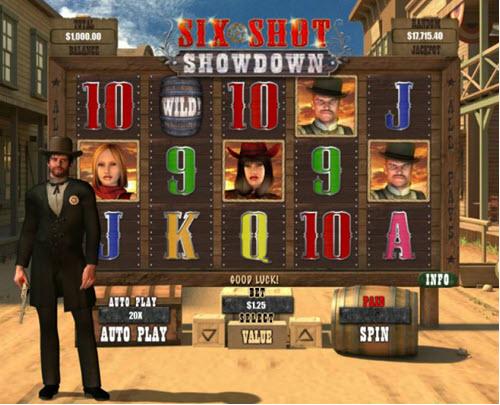 six shot showdown slot