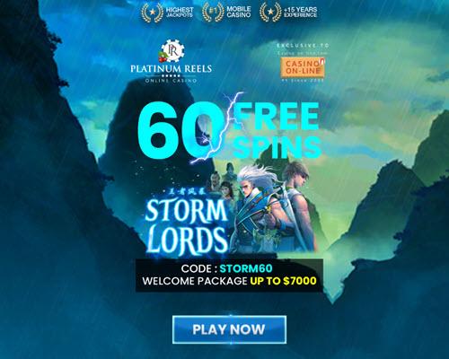Platinum Reels Casino (60 Free Spins) no Deposit Codes