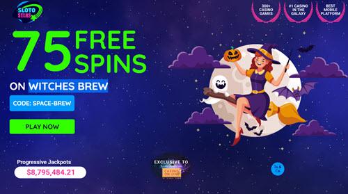 Witches Brew Slots with No Deposit Bonus